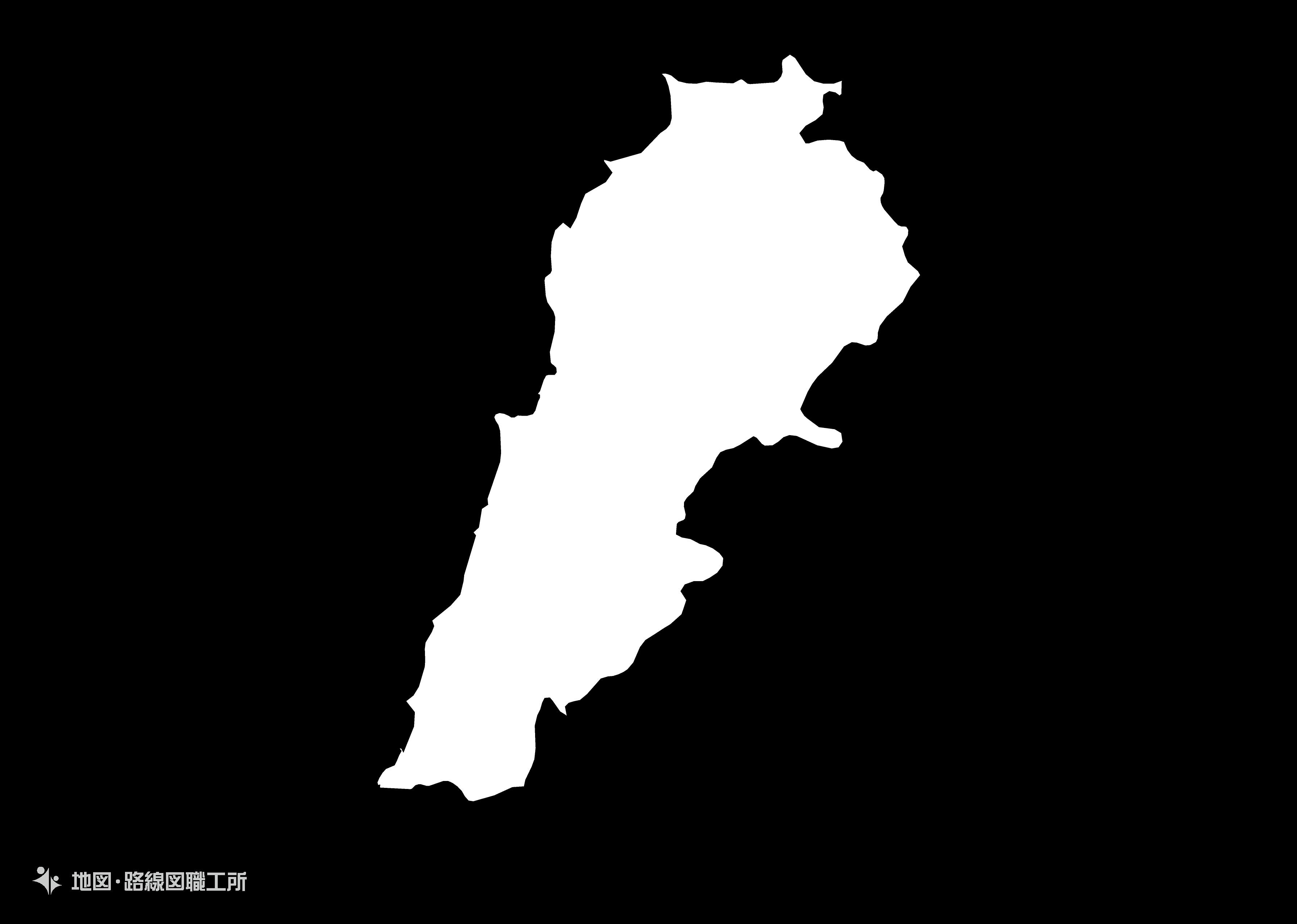 世界の白地図 レバノン共和国 republic-of-lebanon map