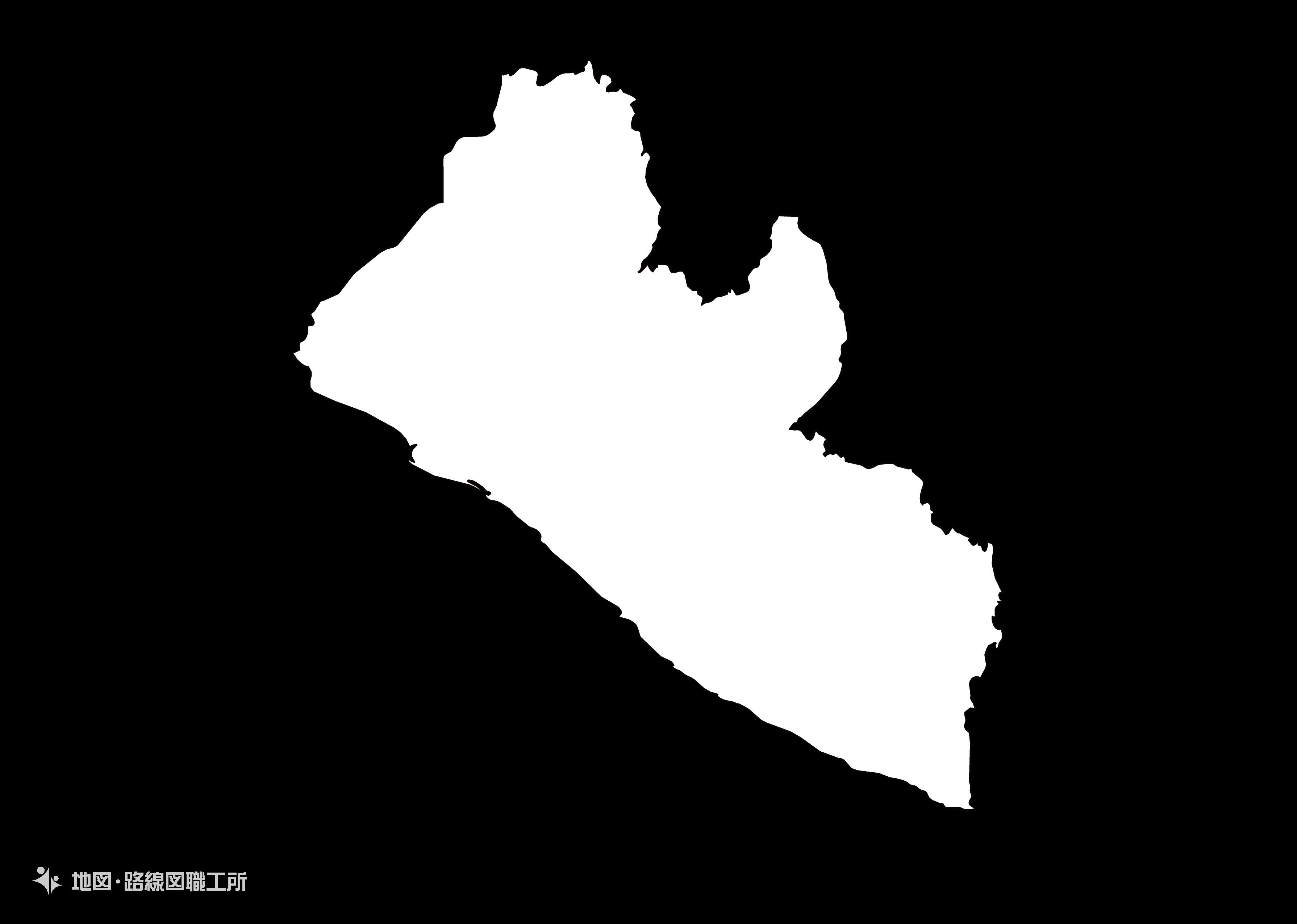 世界の白地図 リベリア共和国 republic-of-liberia map