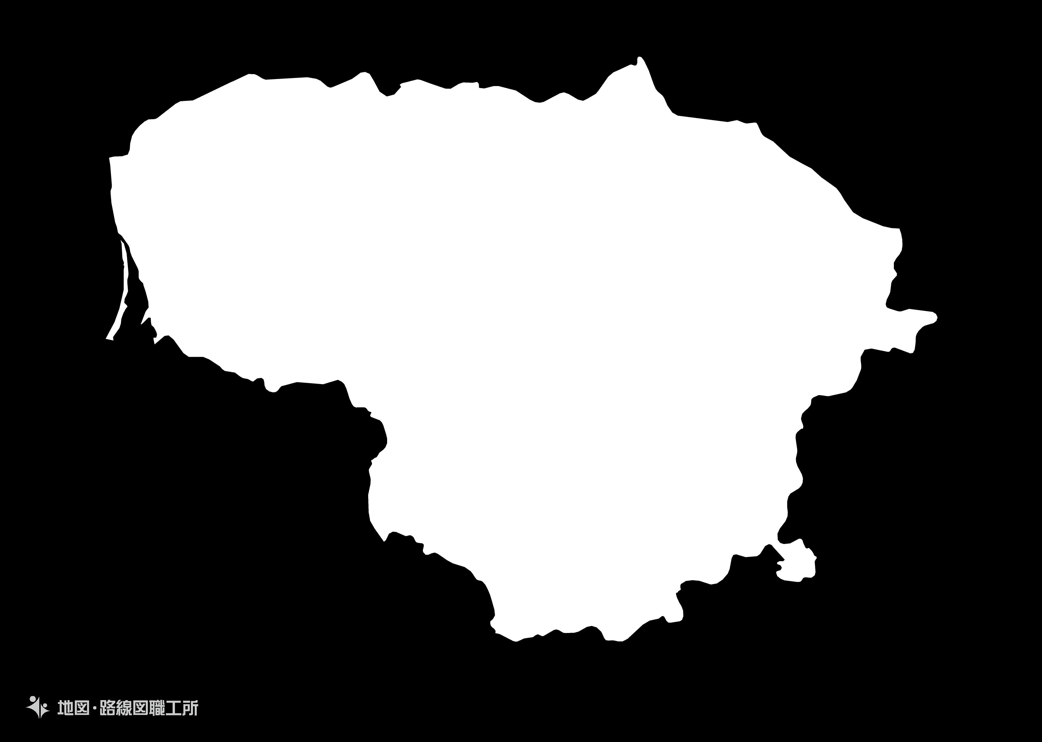 世界の白地図 リトアニア共和国 republic-of-lithuania map