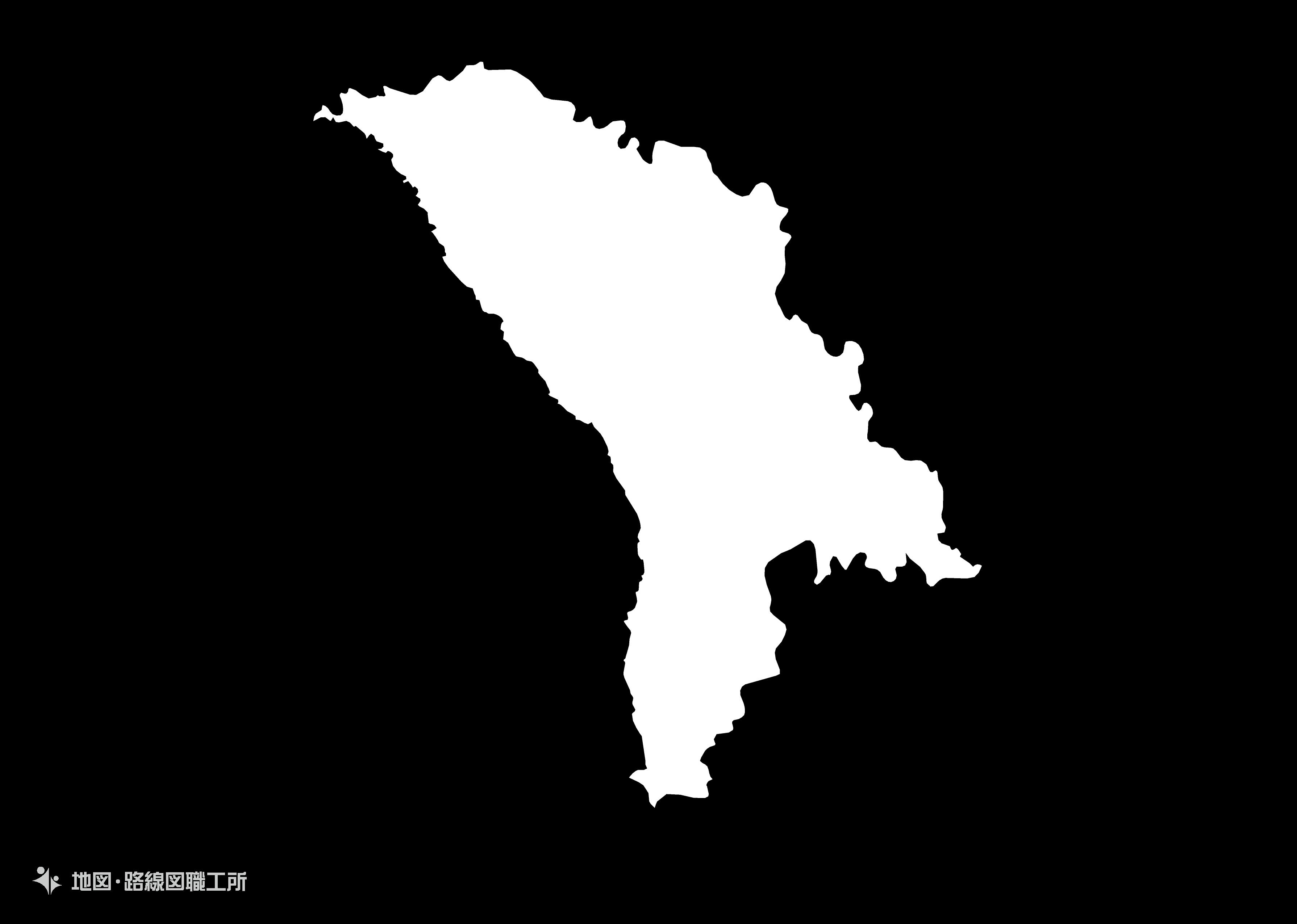 世界の白地図 モルドバ共和国 republic-of-moldova map