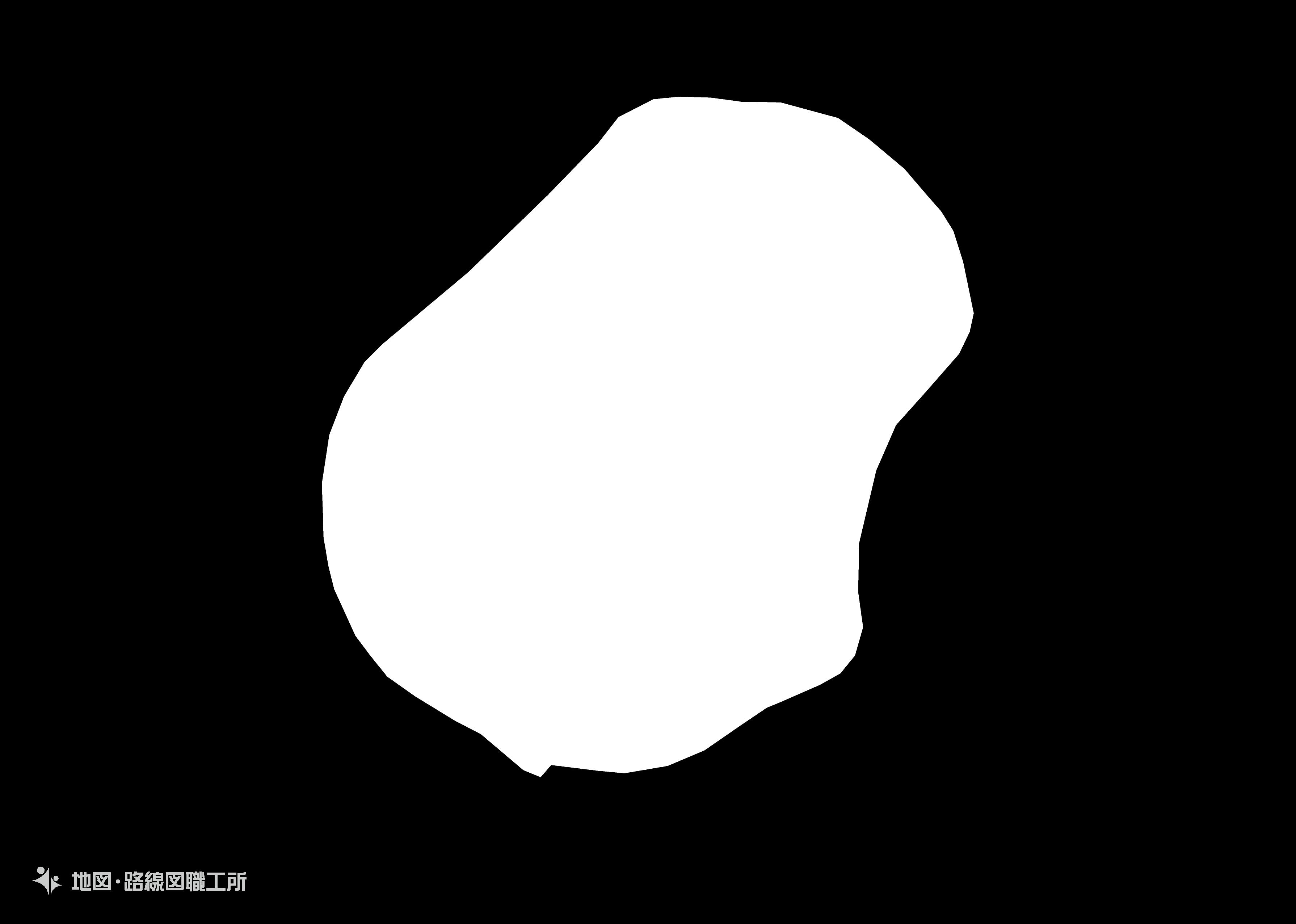 世界の白地図 ナウル共和国 republic-of-nauru map