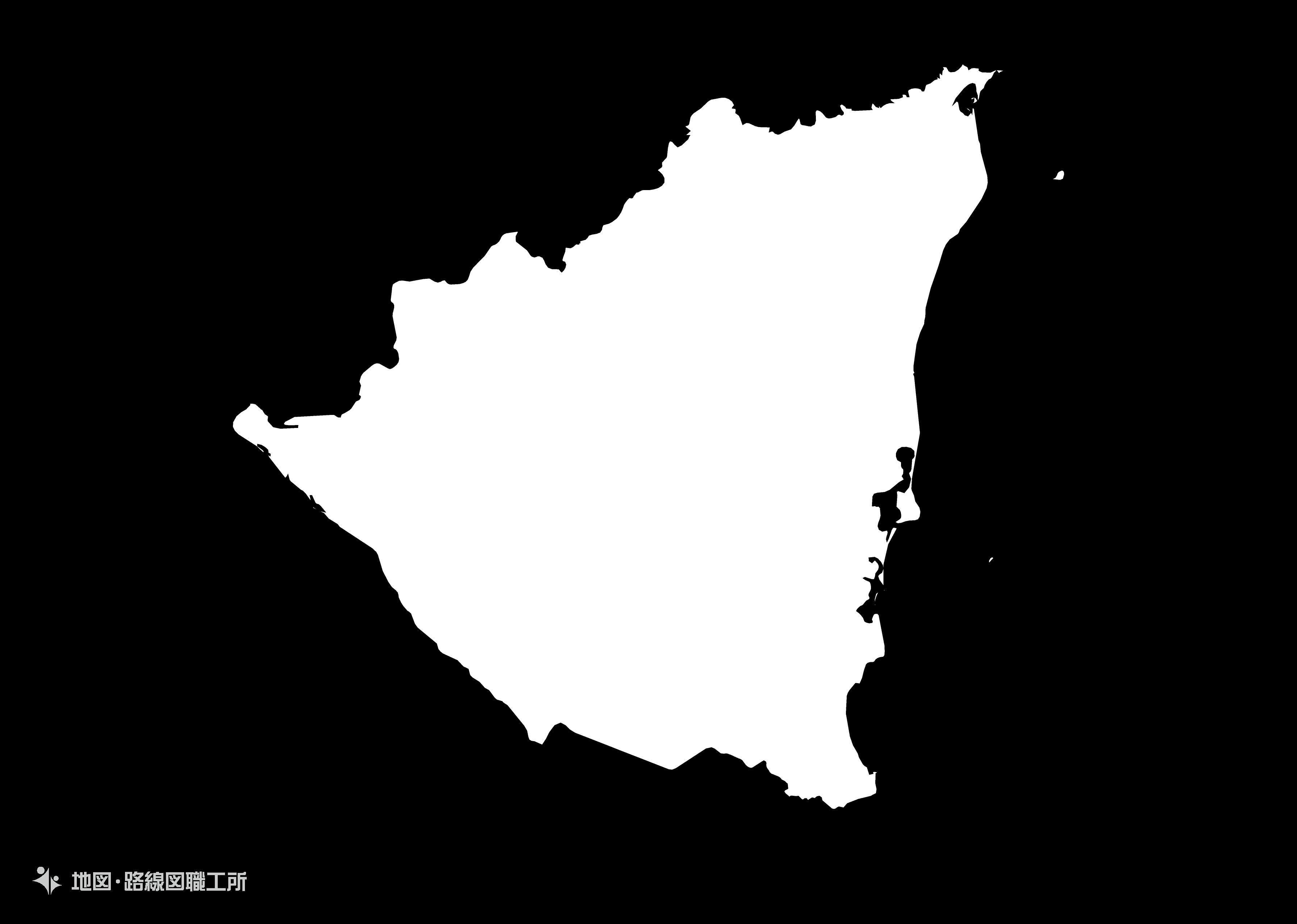 世界の白地図 ニカラグア共和国 republic-of-nicaragua map
