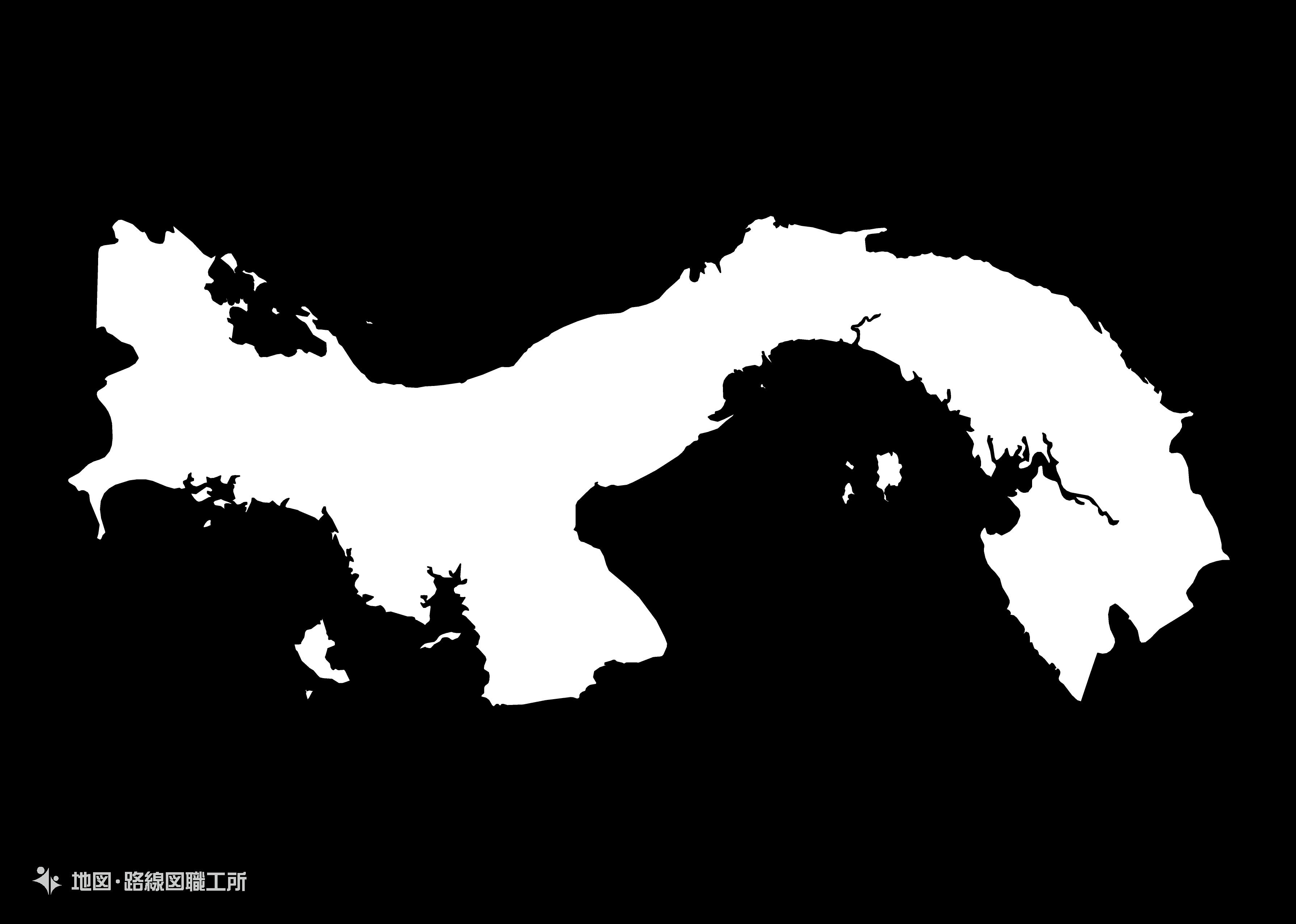 世界の白地図 パナマ共和国 republic-of-panama map
