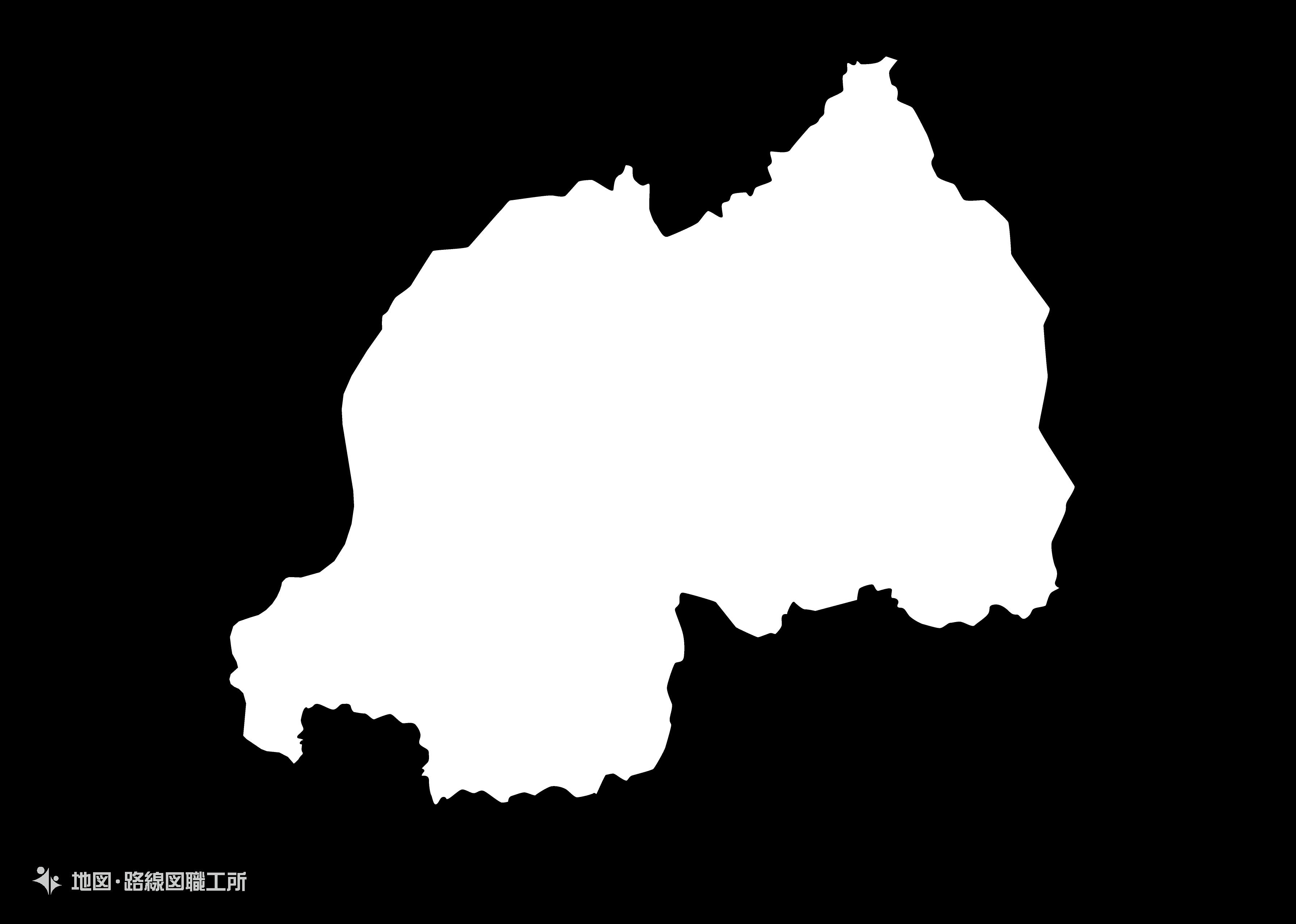 世界の白地図 ルワンダ共和国 republic-of-rwanda map