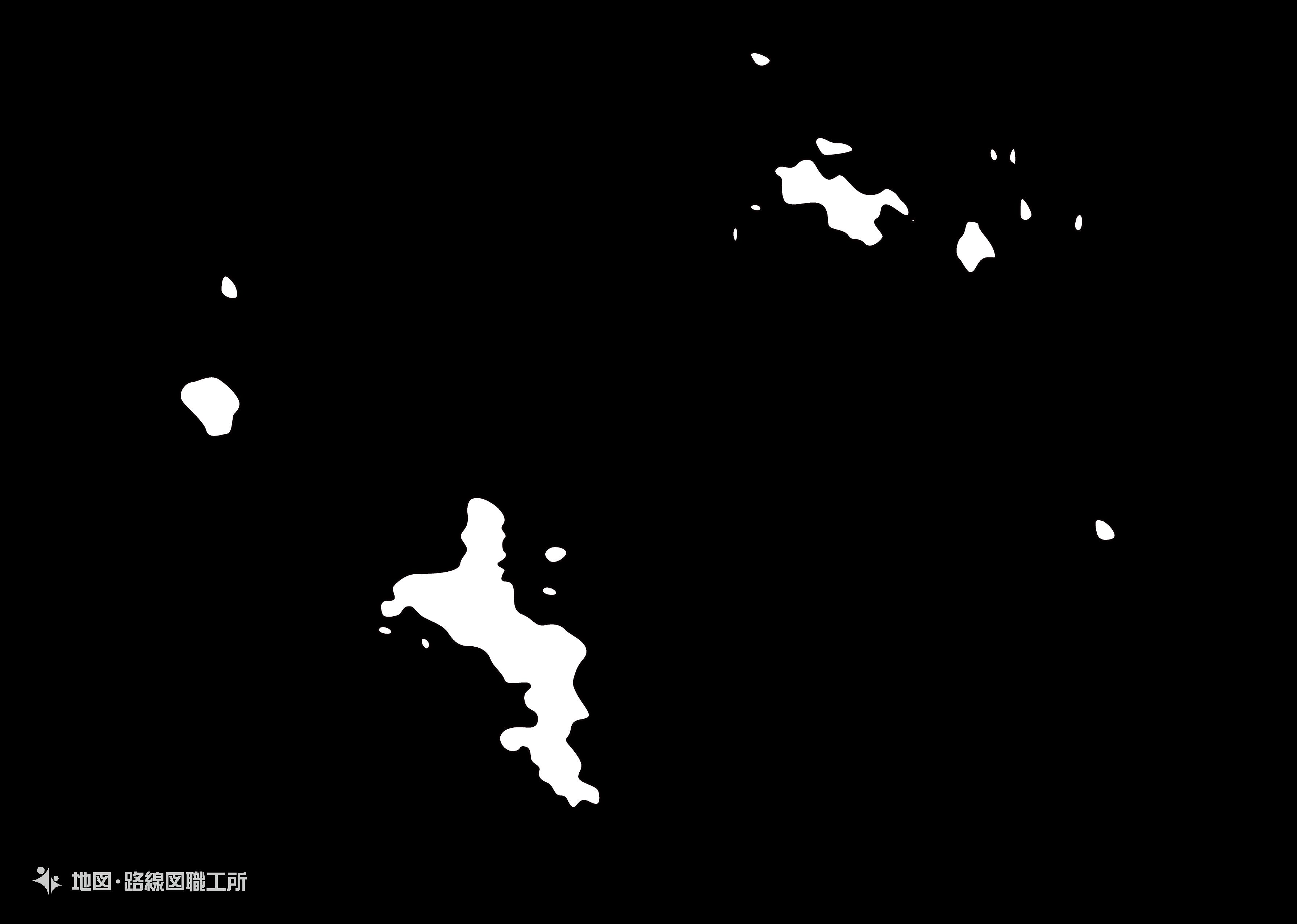 世界の白地図 セーシェル共和国 republic-of-seychelles map