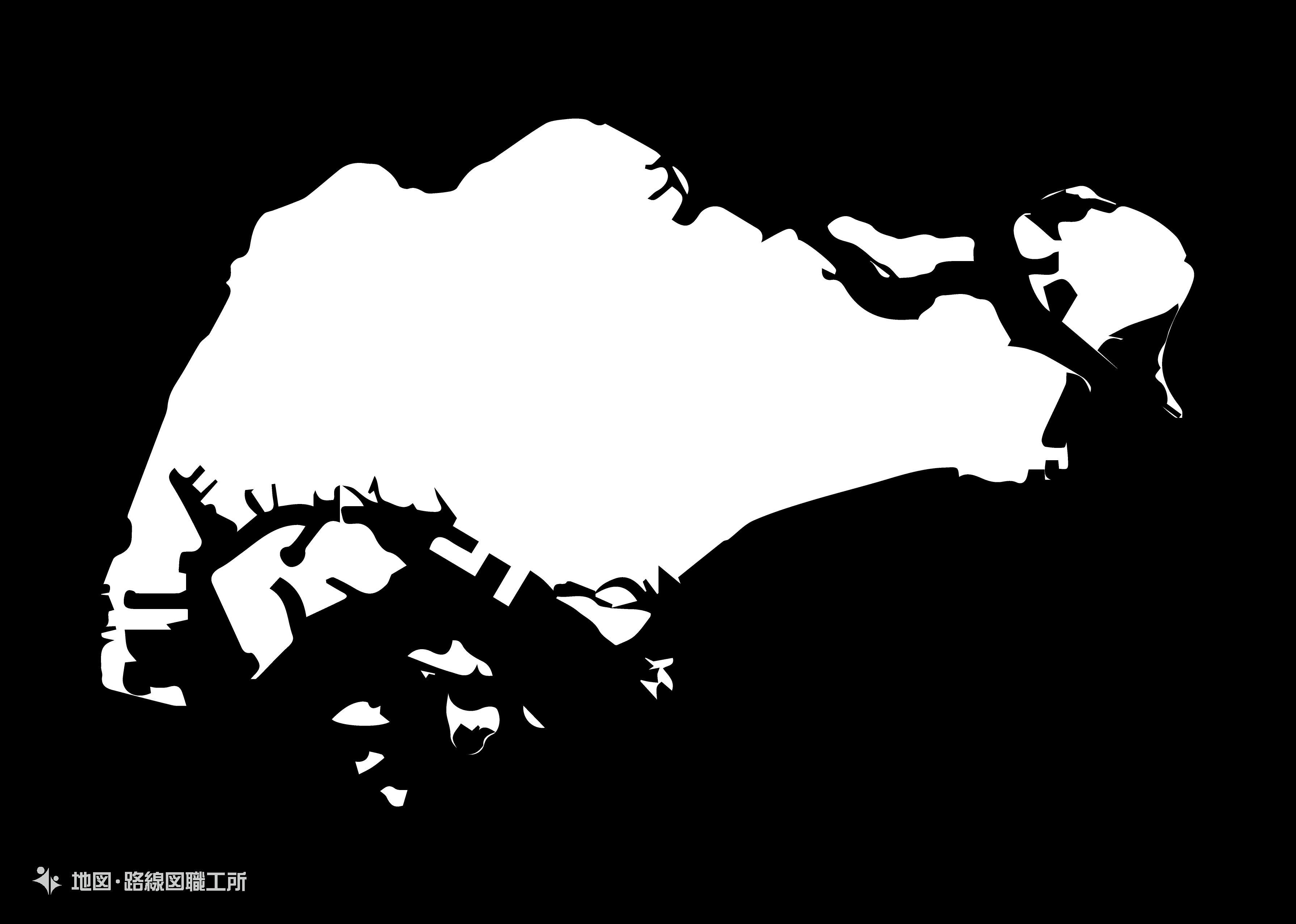 世界の白地図 シンガポール共和国 republic-of-singapore map