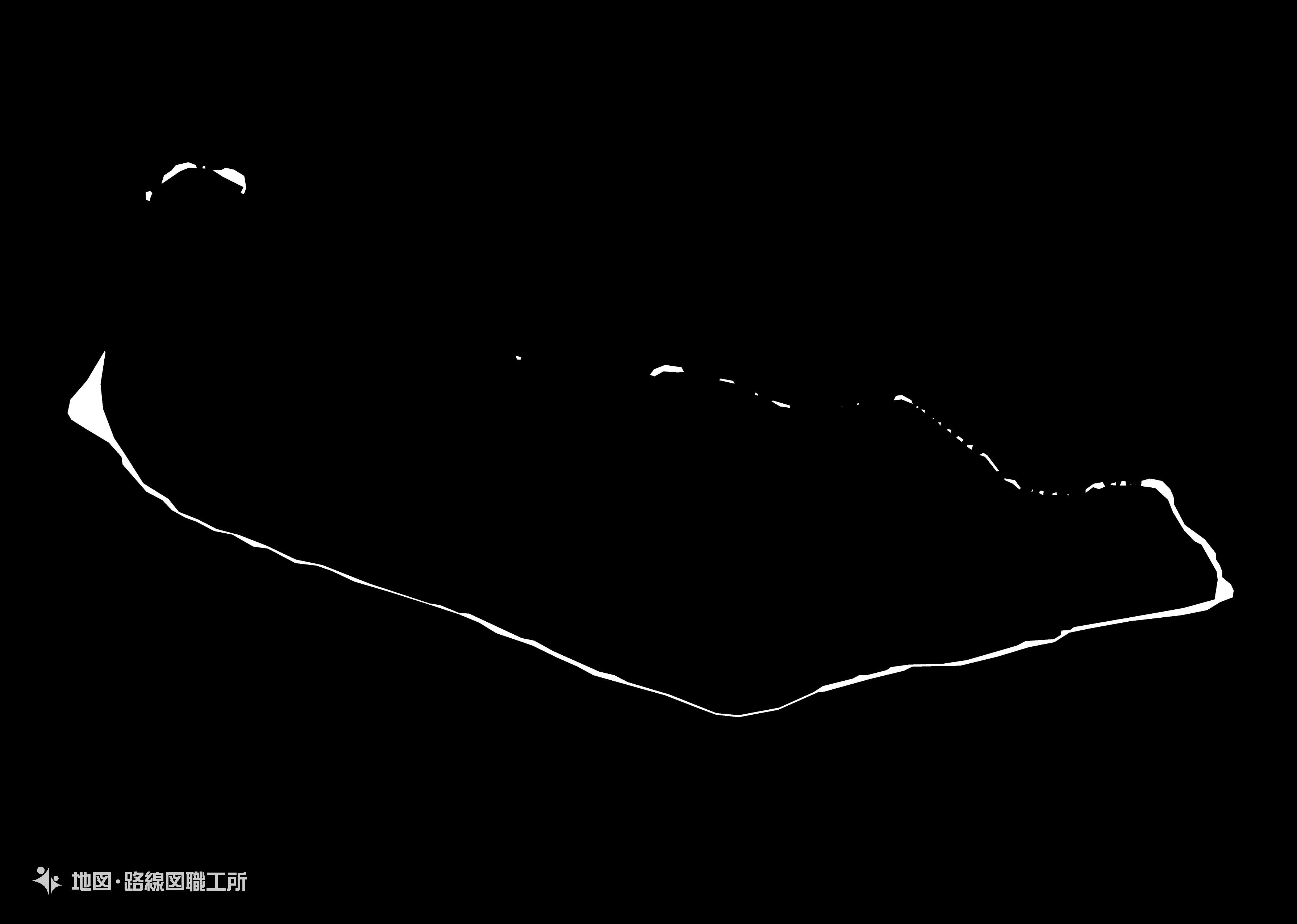 世界の白地図 マーシャル諸島共和国 republic-of-the-marshall-islands map