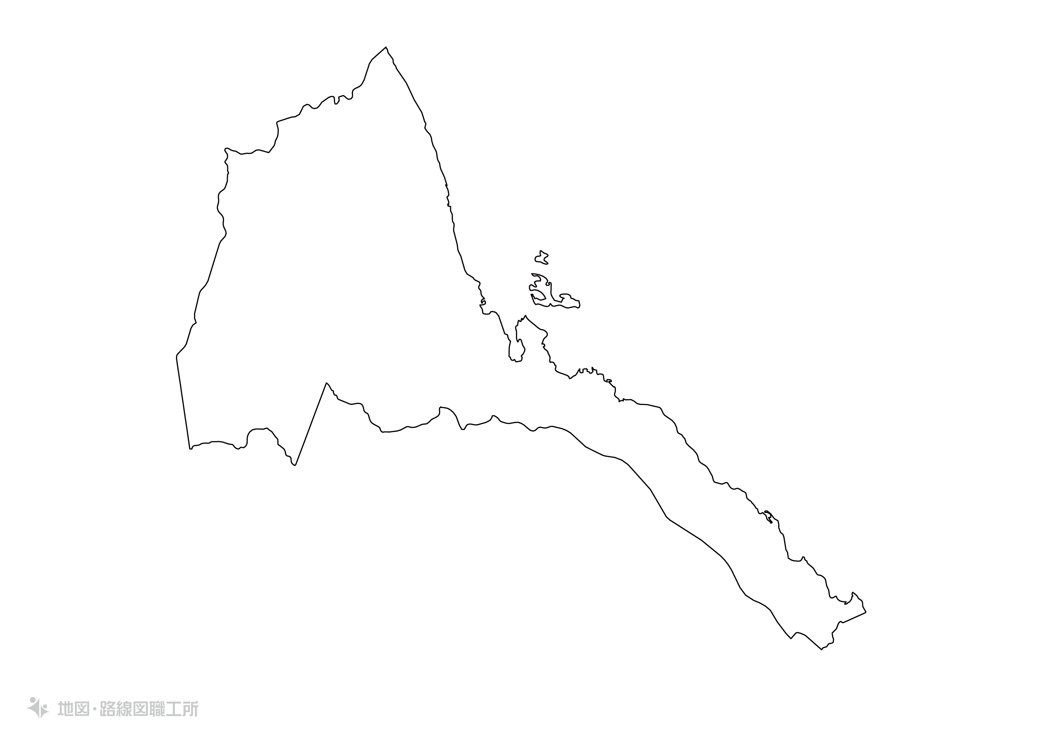 世界の白地図 エリトリナ共和国 state-of-eritrea