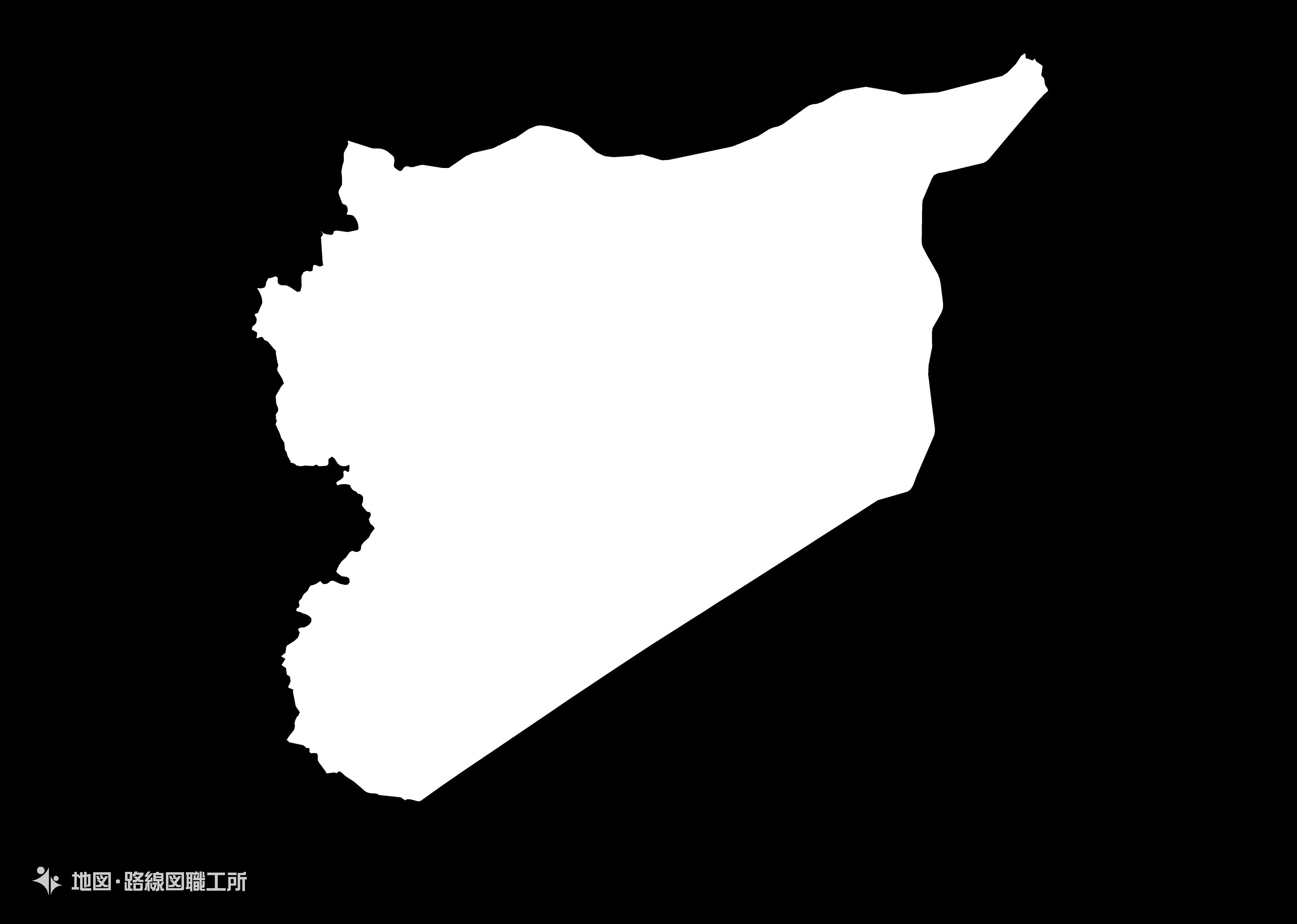 世界の白地図 シリア・アラブ共和国 syrian-arab-republic map