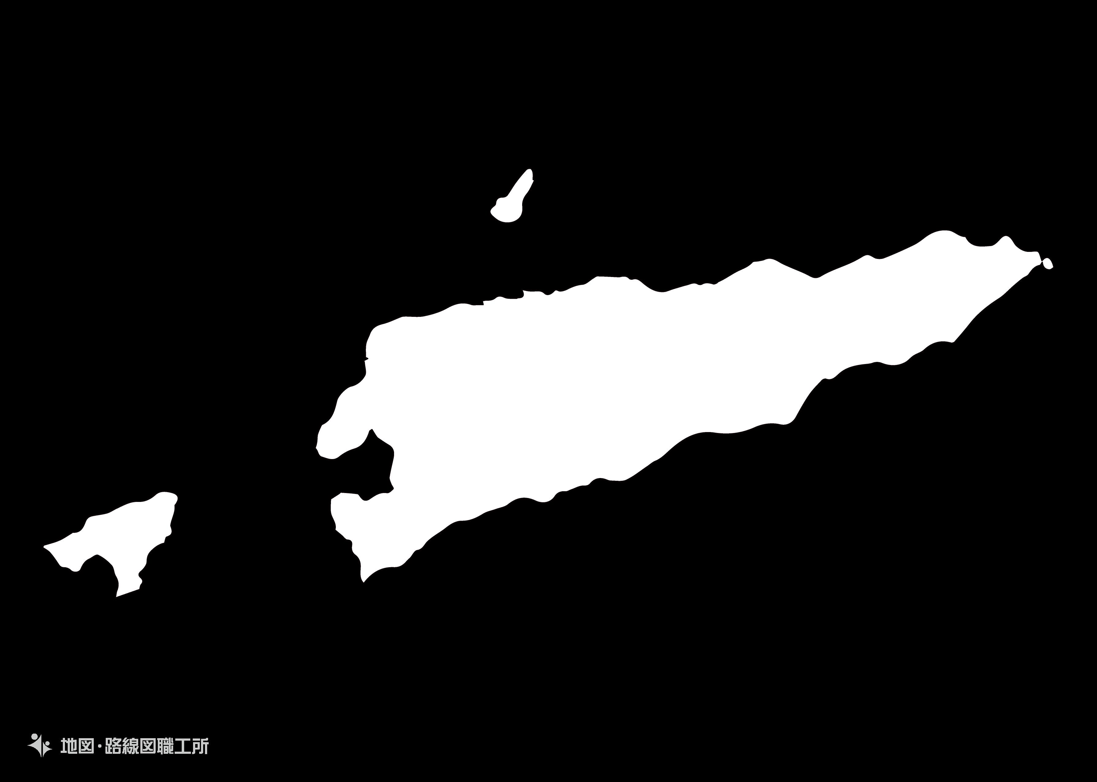 世界の白地図 東ティモール民主共和国 the-democratic-republic-of-timor-leste map