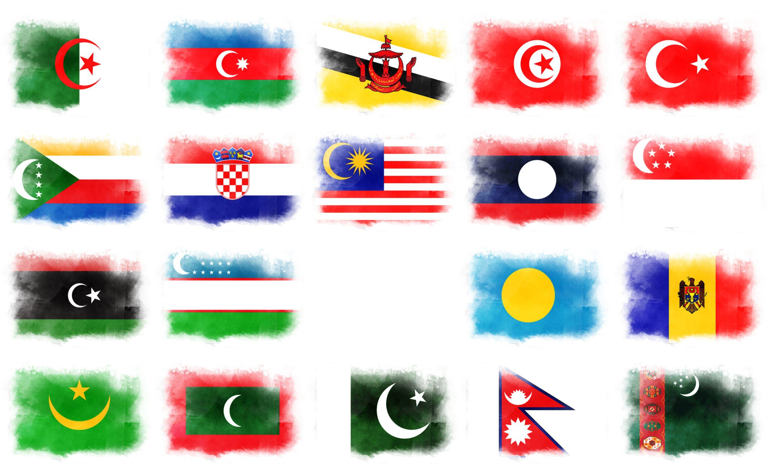 月がデザインされた国旗19ヵ国一覧