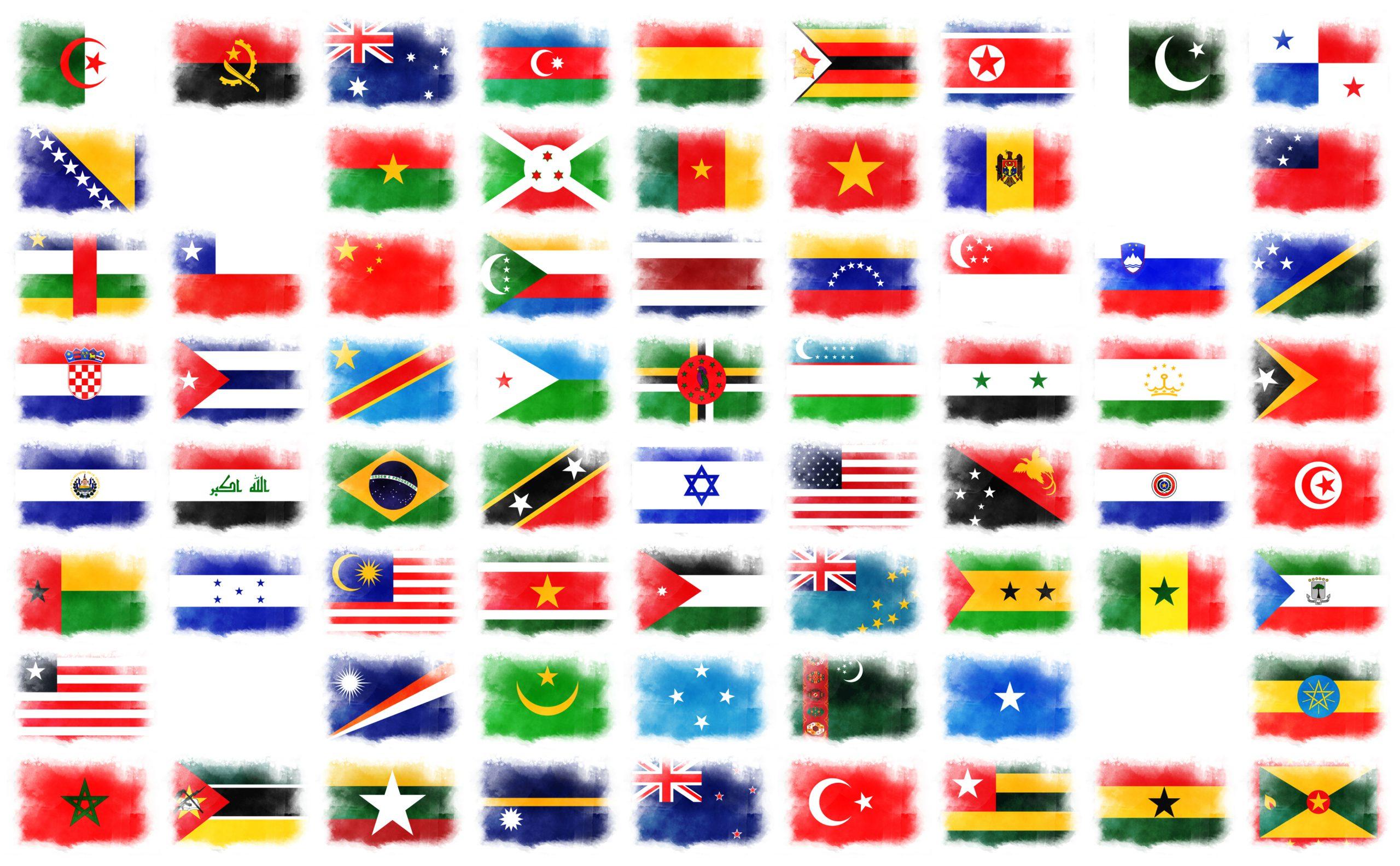 星がデザインされた国旗68ヵ国一覧