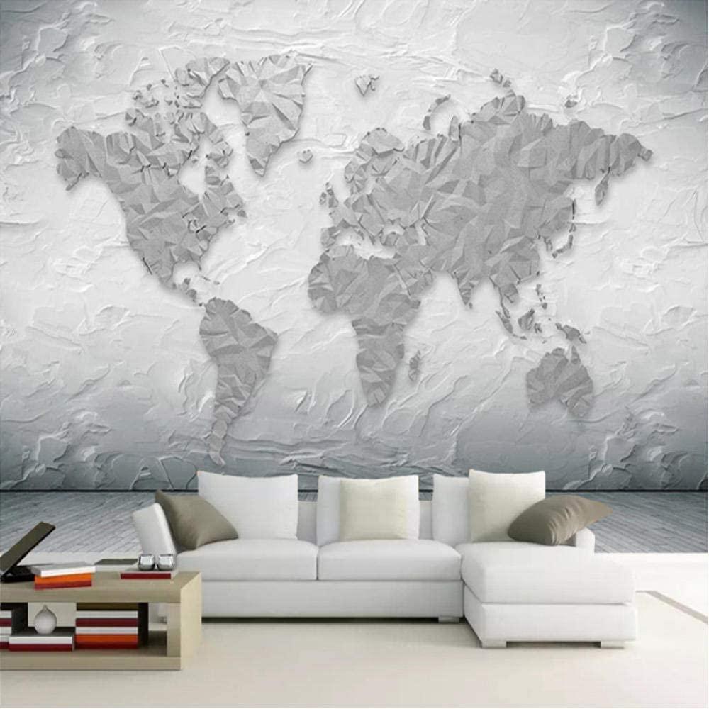 石のテクスチャ世界地図 壁画1
