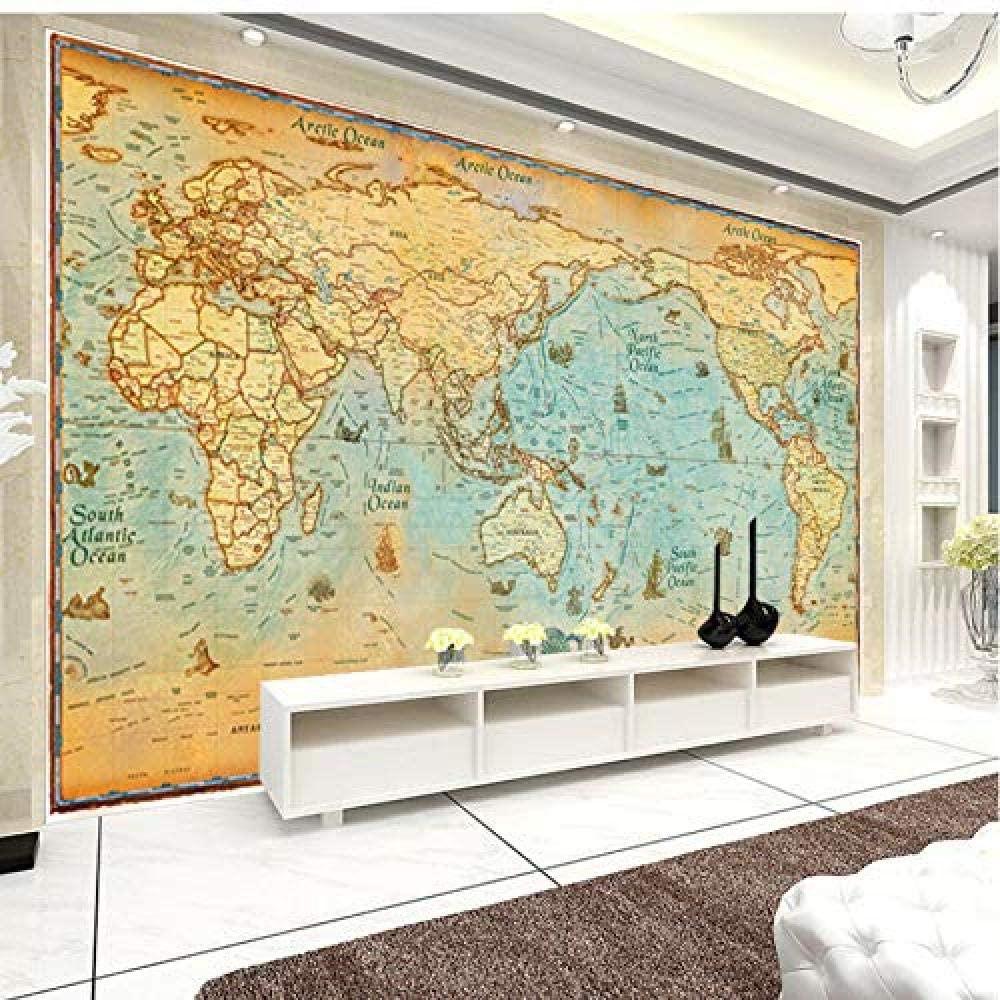 ヴィンテージな世界地図 壁画 イメージ