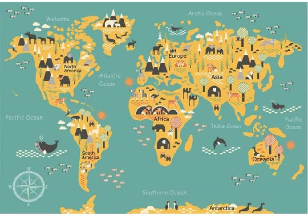世界地図の3D壁紙ポスター