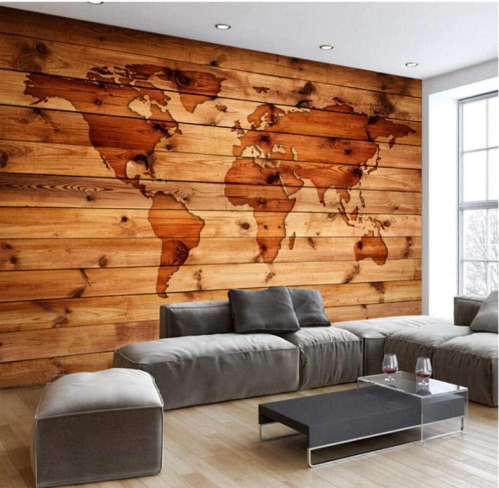 木目の温かみがある世界地図壁紙 イメージ1