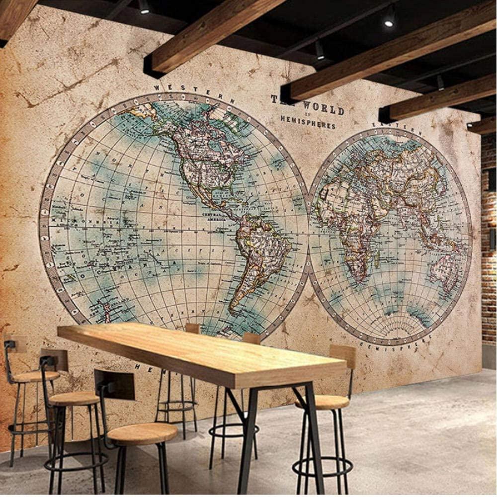 ノスタルジックな世界地図壁画 イメージ2