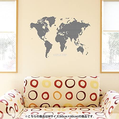 ウォールステッカー 世界地図 ドット イメージ2