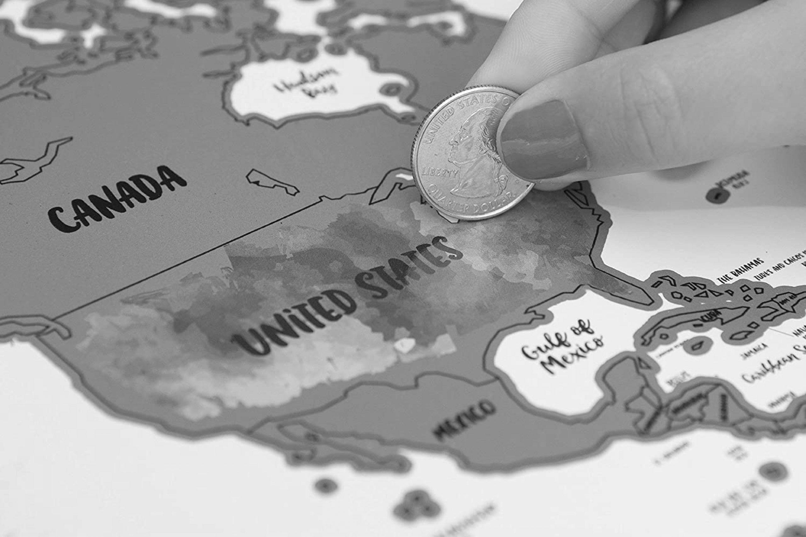 スクラッチ世界地図