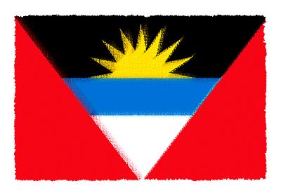 アンティグア・バーブーダの国旗イラスト 由来・意味を解説