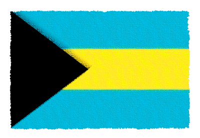 バハマ国の国旗イラスト 由来・意味を解説