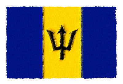 バルバドスの国旗イラスト 由来・意味を解説