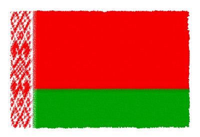 ベラルーシ共和国の国旗イラスト 由来・意味を解説