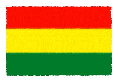 ボリビア多民族国の国旗イラスト 由来・意味を解説