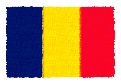 チャド共和国の国旗イラスト 由来・意味を解説
