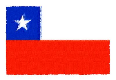 チリ共和国の国旗イラスト 由来・意味を解説