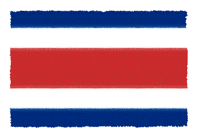 コスタリカ共和国の国旗イラスト 由来・意味を解説