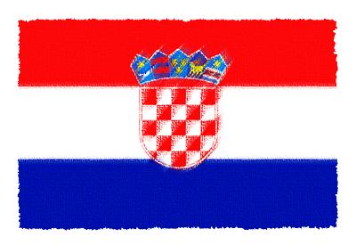 クロアチア共和国の国旗イラスト 由来・意味を解説
