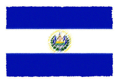 エルサルバドル共和国の国旗イラスト 由来・意味を解説