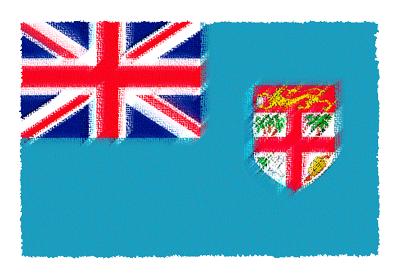 フィジー共和国の国旗イラスト 由来・意味を解説