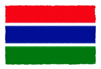 ガンビア・イスラム共和国の国旗イラスト 由来・意味を解説