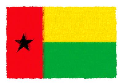 ギニアビサウ共和国の国旗イラスト 由来・意味を解説