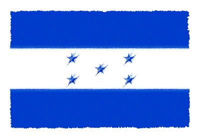 ホンジュラス共和国の国旗イラスト 由来・意味を解説