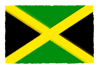ジャマイカの国旗イラスト 由来・意味を解説