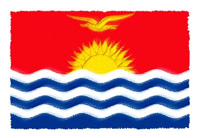 キリバス共和国の国旗イラスト 由来・意味を解説