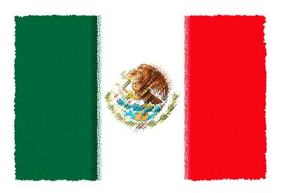 メキシコ合衆国の国旗イラスト 由来・意味を解説