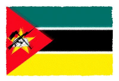 モザンビーク共和国の国旗イラスト 由来・意味を解説