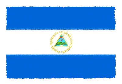 ニカラグア共和国の国旗イラスト 由来・意味を解説
