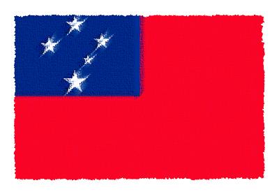 サモア独立国の国旗イラスト 由来・意味を解説