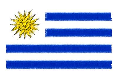 ウルグアイ東方共和国の国旗イラスト 由来・意味を解説