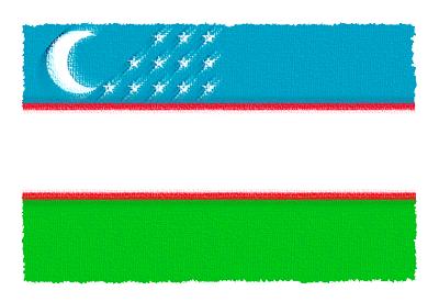 ウズベキスタン共和国の国旗イラスト 由来・意味を解説