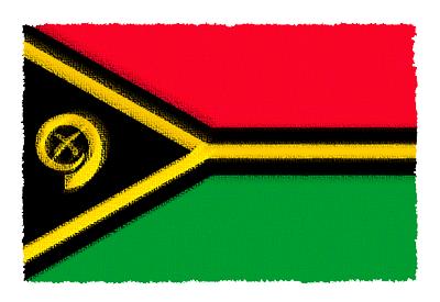 バヌアツ共和国の国旗イラスト 由来・意味を解説