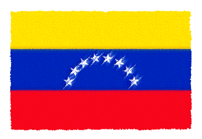 ベネズエラ・ボリバル共和国の国旗イラスト 由来・意味を解説