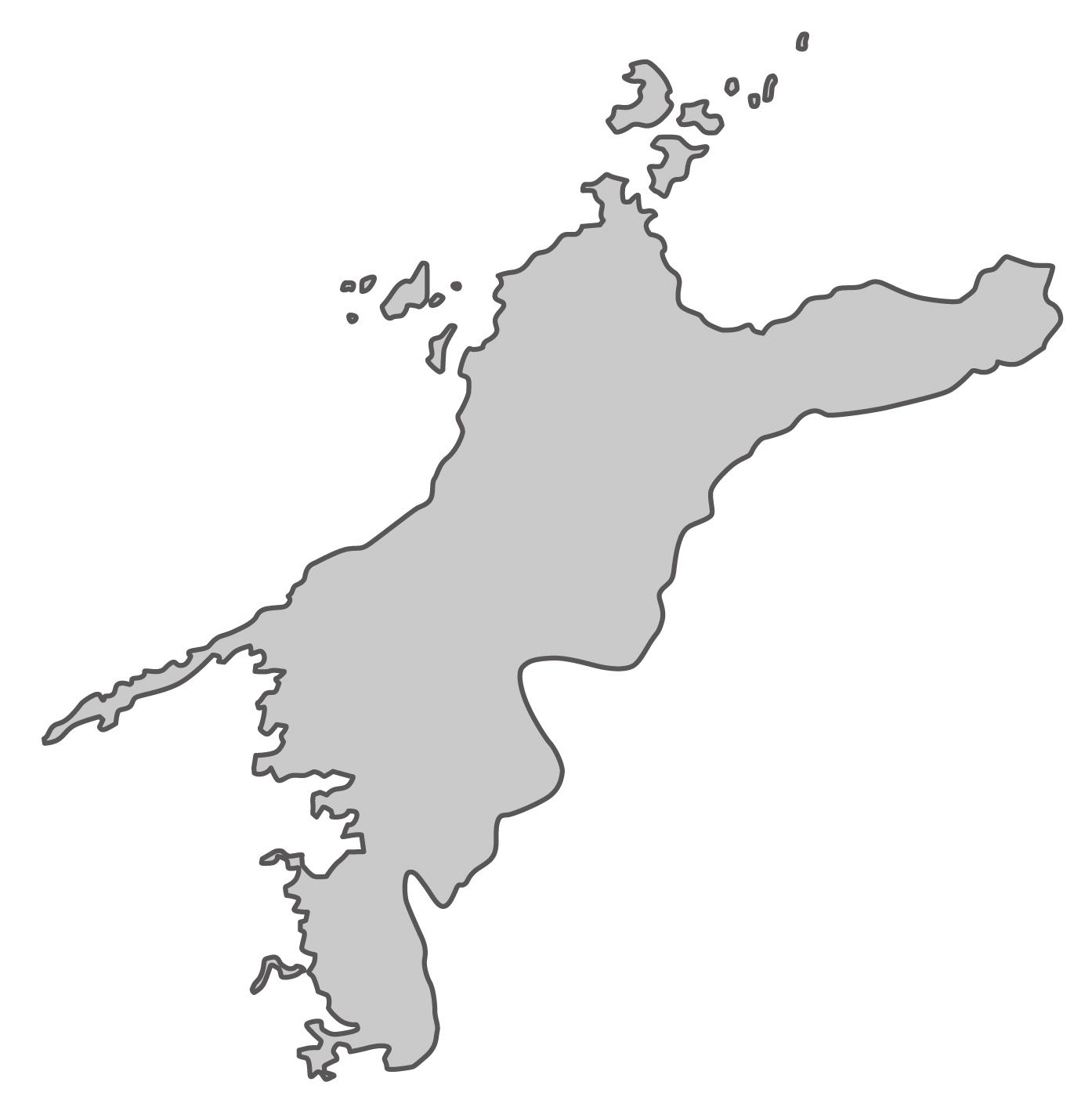 愛媛県無料フリーイラスト|文字なし(グレー)