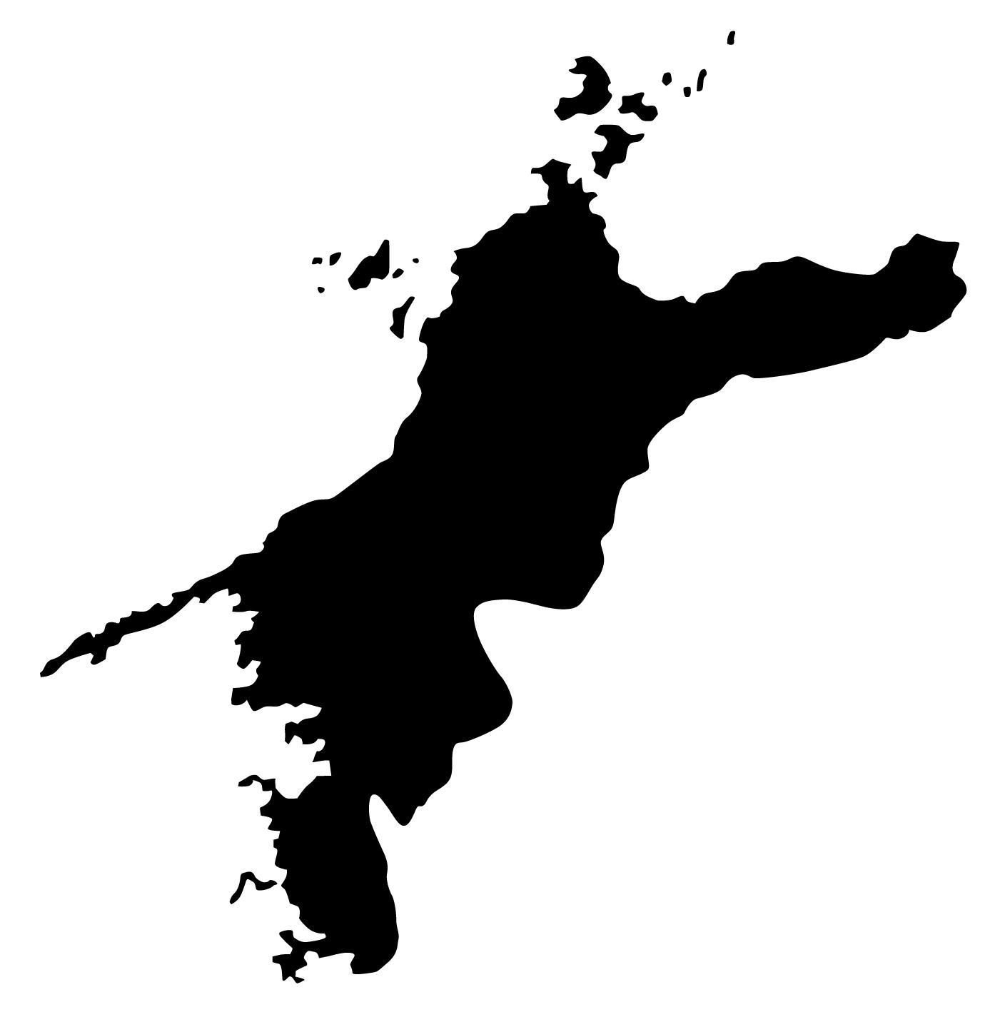 愛媛県無料フリーイラスト|文字なし(黒)