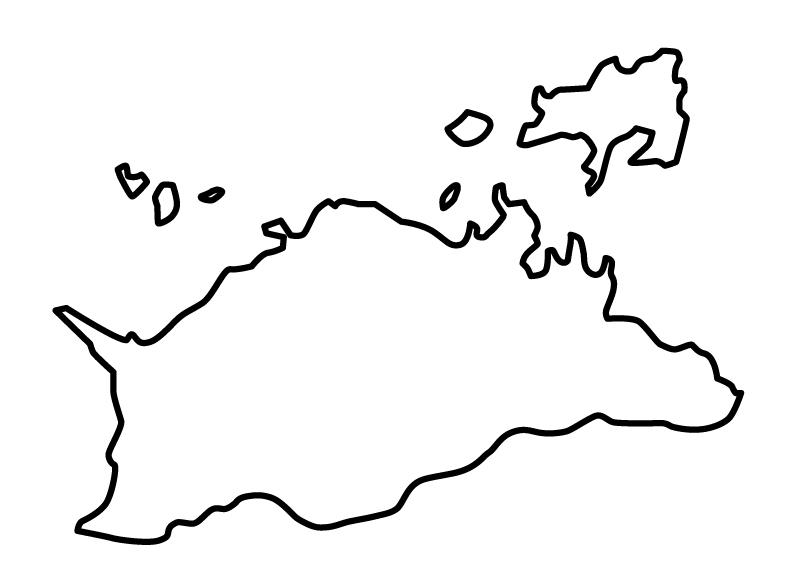 香川県無料フリーイラスト|文字なし(白)